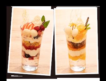 Berryパフェ/Orangetパフェ